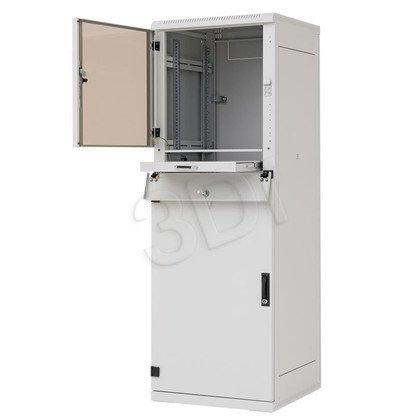 """Triton 19"""" Szafa przemysłowa stojąca RPA-37-A66-CAX-A1 (37U, 600x600mm, trzysekcyjna, kolor jasnoszary RAL7035 , klasa szczelności IP30)"""