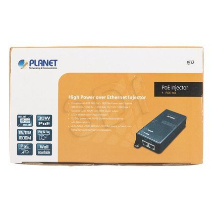 PLANET POE-163 Mieszacz PoE 802.3at 1-port