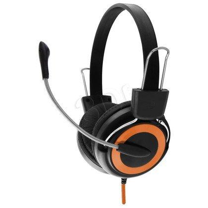 Słuchawki nauszne z mikrofonem Esperanza FALCON (Czarno-pomarańczowy)
