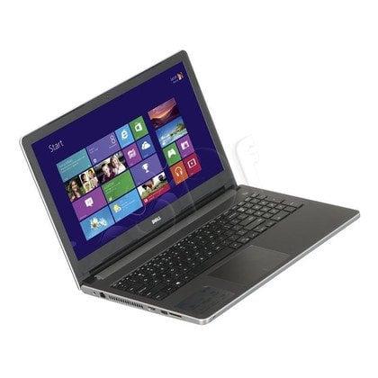"""DELL Inspiron 5558 i3-5005U 4GB 15,6"""" HD 1000GB HD5500 GT920M Win10 Srebrny (5558-1577) 2Y NBD"""