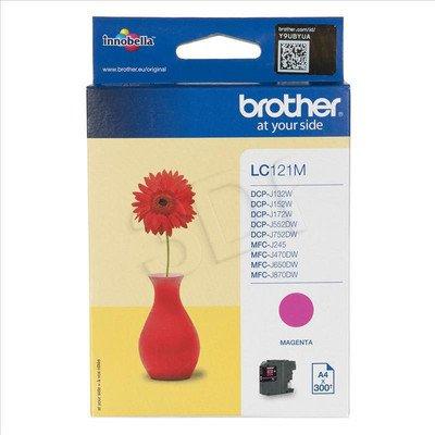 BROTHER Tusz Czerwony LC121M=LC-121M, 300 str.