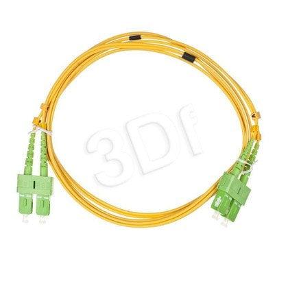 ALANTEC patchcord światłowodowy SM LSOH 2m SC/APC-SC/APC duplex 9/125 żółty