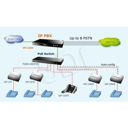 PLANET ( VIP-157 ) Adapter VoIP dla Telefonów Analogowych / 1xFXS 1xPSTN / SIP /