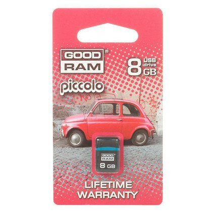 GOODRAM FLASHDRIVE 8192MB USB 2.0 PICCOLO BLACK