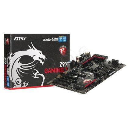MSI Z97 GAMING 3 Z97 LGA1150 (PCX/DZW/VGA/GLAN/SATA3/USB3/RAID/DDR3/CROSSFIRE)