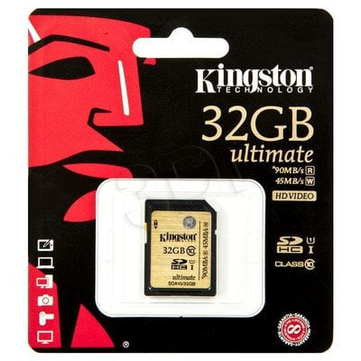 Kingston SDHC SDA10/32GB 32GB Class 10,UHS Class U1