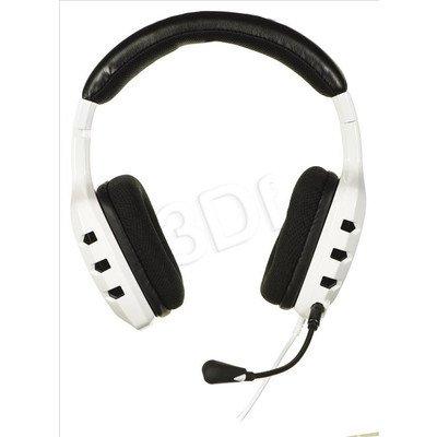 Słuchawki wokółuszne z mikrofonem OZONE RAGE ST (Biało-czarne)