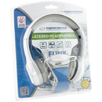 Słuchawki nauszne Esperanza FUNK EH140W (Biały)