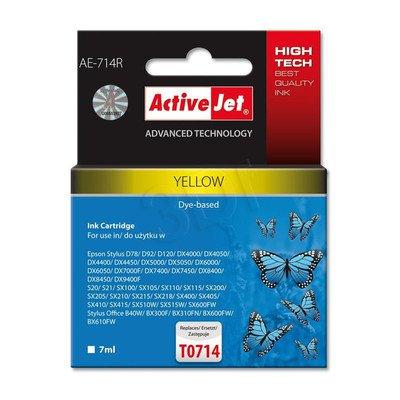 ActiveJet AE-714R tusz żółty do drukarki Epson (zamiennik Epson T0714) Premium