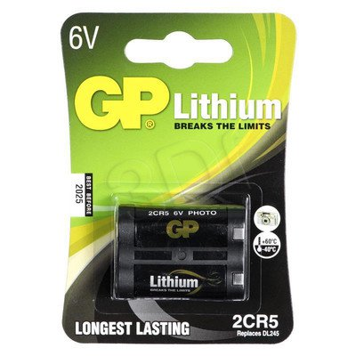 GP Bateria fotograficzna 2CR5 blister 1szt.