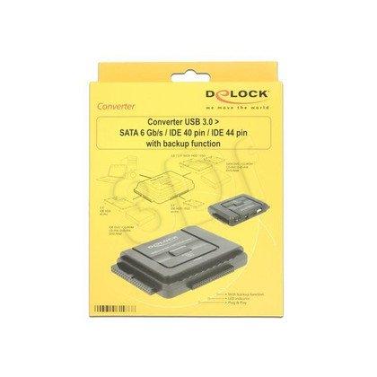 DELOCK ADAPTER USB 3.0 - SATA/IDE 40PIN/IDE 44PIN + ZEW. ZASILANIE