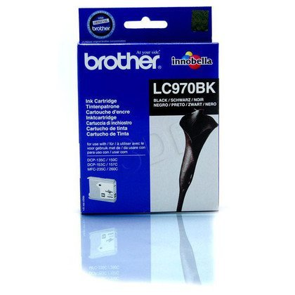 BROTHER Tusz Czarny LC970BK=LC-970Bk, 350 str.