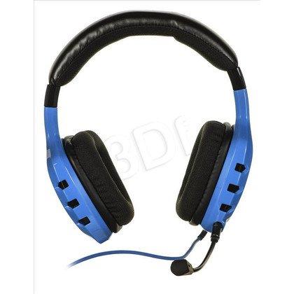Słuchawki wokółuszne z mikrofonem OZONE RAGE ST (Niebiesko czarny)