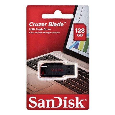 Sandisk Flashdrive Cruzer Blade 128GB USB 2.0 czarno-czerwony