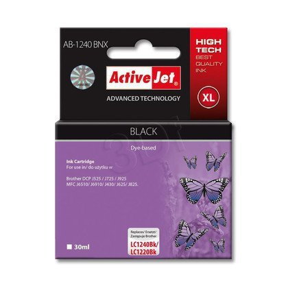 ActiveJet AB-1240BNX tusz czarny do drukarki Brother (zamiennik LC1240Bk)