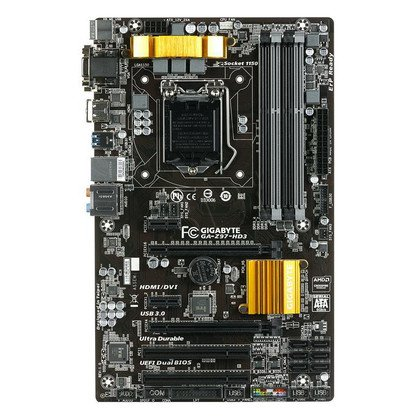 GIGABYTE GA-Z97-HD3 Z97 LGA1150 (PCX/DZW/VGA/GLAN/SATA3/USB3/RAID/DDR3/CROSSFIRE)