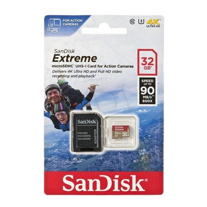 Sandisk micro SDHC Extreme 32GB Class 10,UHS Class U3 + ADAPTER microSD-SD