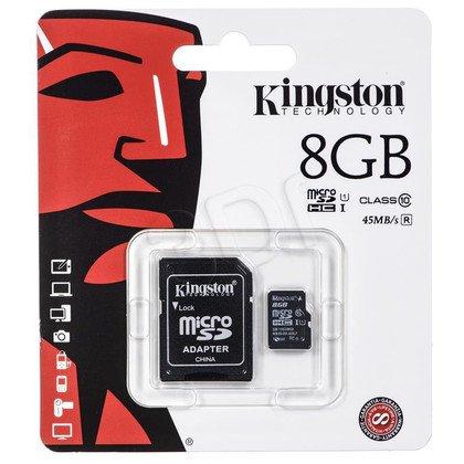 Kingston micro SDHC SDC10G2/8GB 8GB Class 10 + ADAPTER microSD-SD