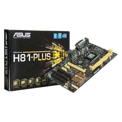 ASUS H81-PLUS H81 LGA1150 (PCX/DZW/GLAN/SATA3/USB3/DDR3)