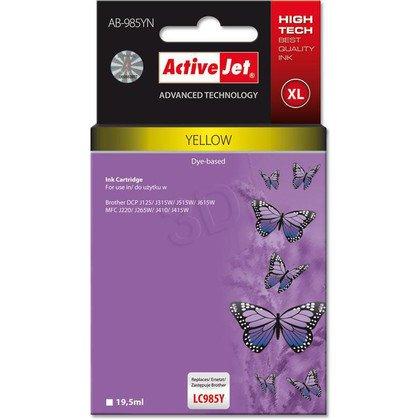 ActiveJet AB-985YN (AB-985Y) tusz Yellow do drukarki Brother (zamiennik LC985Y)