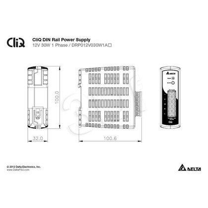 Zasilacz przemysłowy do montażu na szynie DIN DELTA DRP012V030W1AZ (12V 30W)
