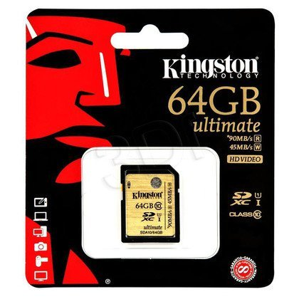 Kingston SDHC SDA10/64GB 64GB Class 10,UHS Class U1