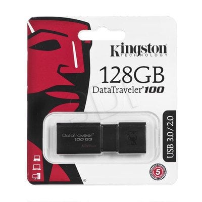Kingston Flashdrive DataTraveler 100 G3 128GB USB 3.0 czarny