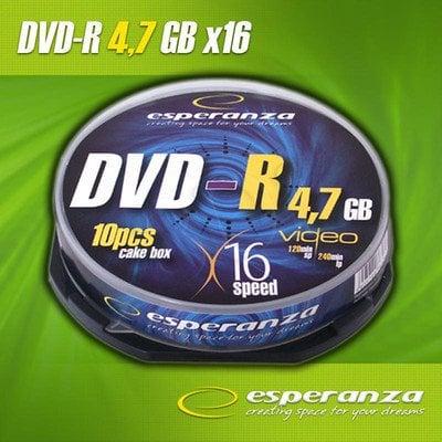 DVD-R Esperanza 4.7GB 16xSpeed (Cake 10szt)