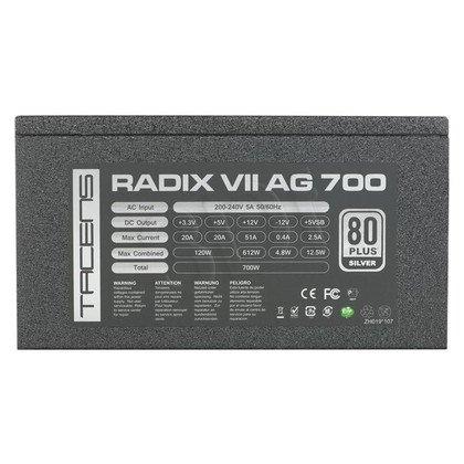 ZASILACZ TACENS RADIX VII - 700W - 80+ SILVER