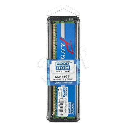 GOODRAM DDR3 PLAY 8192MB PC1600 BLUE CL10