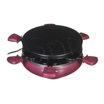 Grill elektryczny Tristar RA-2991 (800W stołowy-otwarty z raclette, czarno-fioletowy)