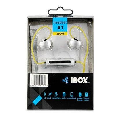 Słuchawki douszne z mikrofonem I-BOX X1 (żółty Bluetooth)