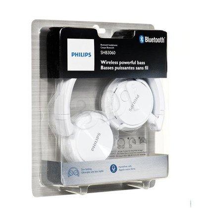 Słuchawki nauszne z mikrofonem Philips SHB3060WT/00 (Biały Bluetooth)