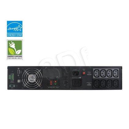 UPS CYBERPOWER OL2000ERTXL2U (VFI, Rack/Tower, 2000VA, 1600W, 8xIEC (8x Backup), FL6min/HL16min, możliwość podłaczenia dodatkowych modułów bateryjnych