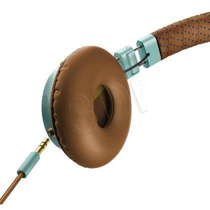 Słuchawki nauszne z mikrofonem Philips SHL5505GB/00 (Brązowo-niebieskie)