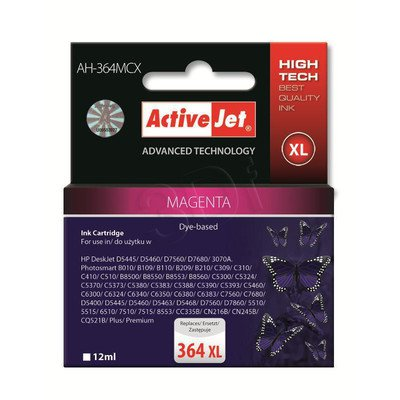 ActiveJet AH-364MCX (AH-C24) tusz magenta do drukarki HP (zamiennik HP 364XL CB324EE)