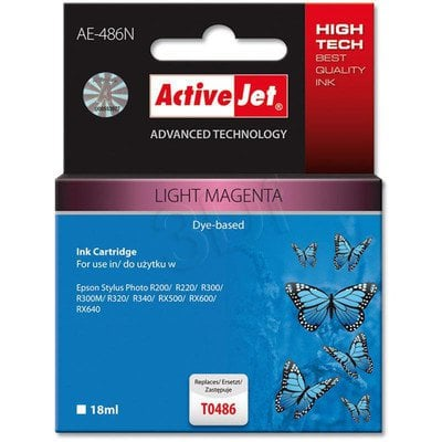 ActiveJet AE-486N (AE-486) tusz light magenta pasuje do drukarki Epson (zamiennik T0486)