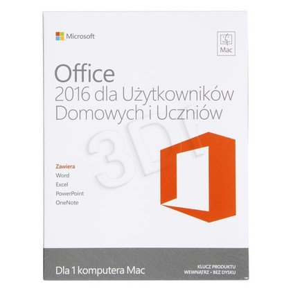 Office Mac Home Student 2016 Polish Medialess