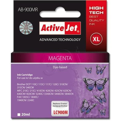 ActiveJet AB-900MR (ABR-900M) tusz magenta do drukarki Brother, ref. (zamiennik Brother LC900M)