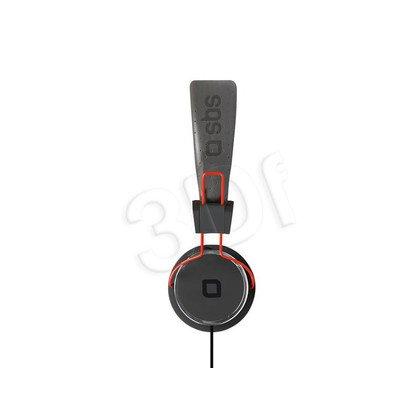 Słuchawki wokółuszne z mikrofonem SBS STUDIO MIX DJ (Czerwono-czarny)