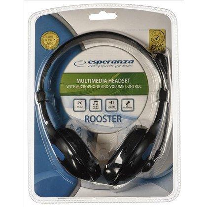 Słuchawki nauszne z mikrofonem Esperanza ROOSTER (Czarno-niebieskie)