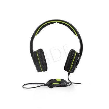 Słuchawki nauszne z mikrofonem Modecom MC-829 ALIEN (Czarno-zielony)