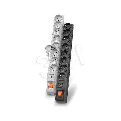 ACAR S8-listwa przeciwprzepięciowa,8gniazd/3m/sz