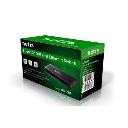 NETIS SWITCH 8-PORT 100MB ST3108S