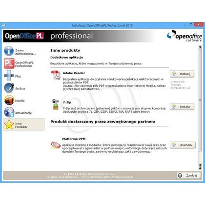OPENOFFICEPL PROFESSIONAL 2015 BOX