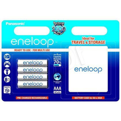 PANASONIC ENELOOP AAA 750mAh 4 SZT BLISTER + BOX