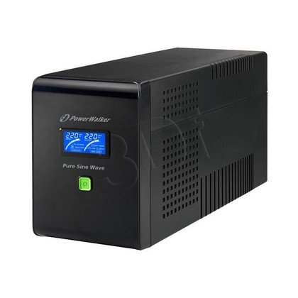 POWER WALKER UPS LINE-INTERACTIVE 2000VA 6X IEC 230V, PURE SINE WAVE, RJ11/45 IN/OUT, USB, LCD