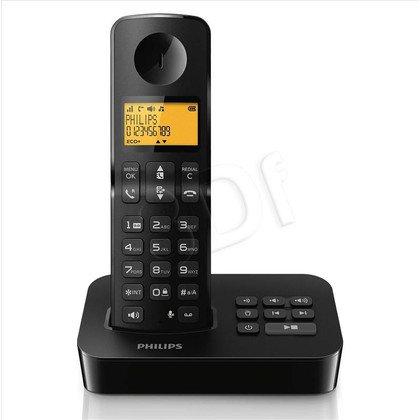 Philips Telefon bezprzewodowy D2151B/53 czarno-szary