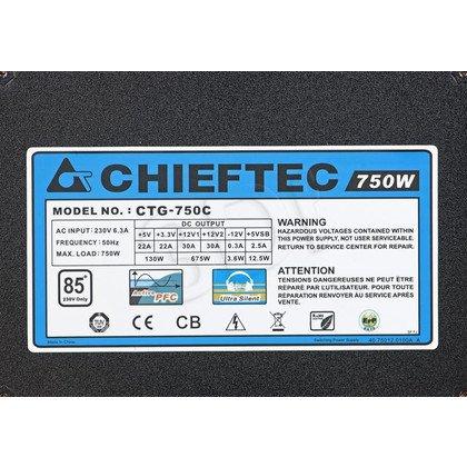 ZASILACZ CHIEFTEC CTG-750C (750W) MODULARNY 80+ BRONZE