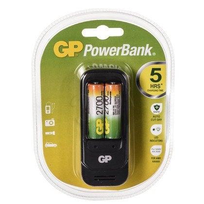GP Ładowarka uniwersalna PB560 2xAA/AAA Akumulatory w zestawie 2x 270AAHC